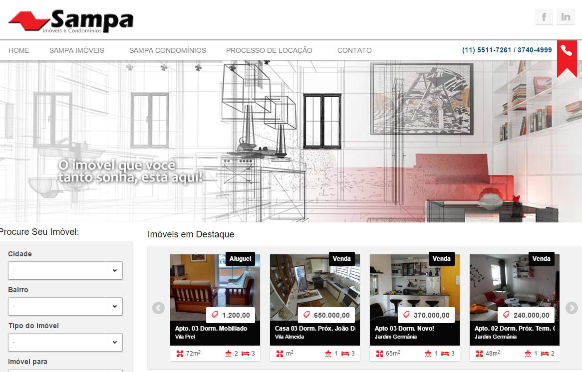 Sampa Imoveis Homepage