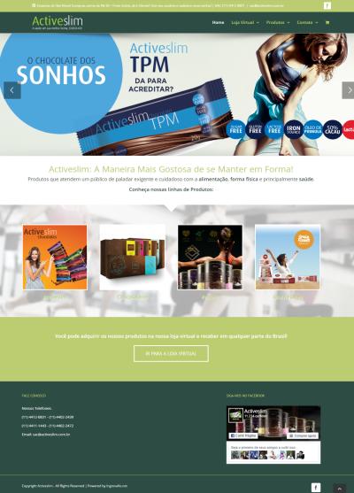 Novo site da Activeslim